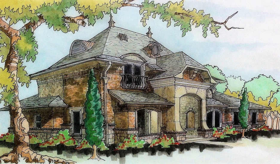 4,000 sq. ft.+ Multi-Bedroom and Baths, in the Style of French Manor Houses From Our Custom Home Design Company in Van Buren, AR
